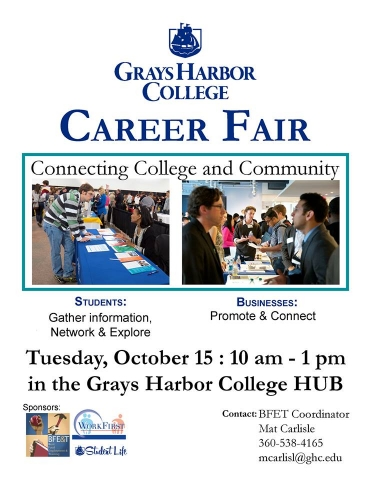 The second annual Career Fair is Tuesday, October 15, from 10 AM-1 PM