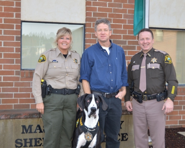 Mason County Couple Donate to Sheriff's Program in Memory of Son