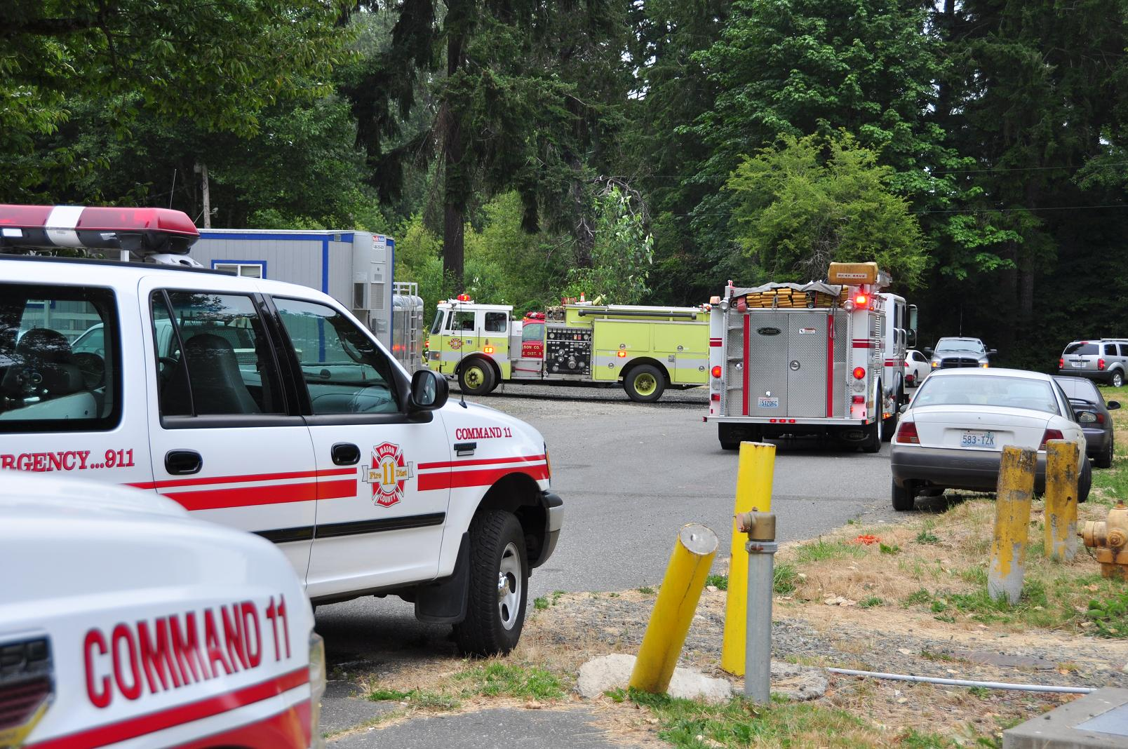 Fire units at the scene of the fire
