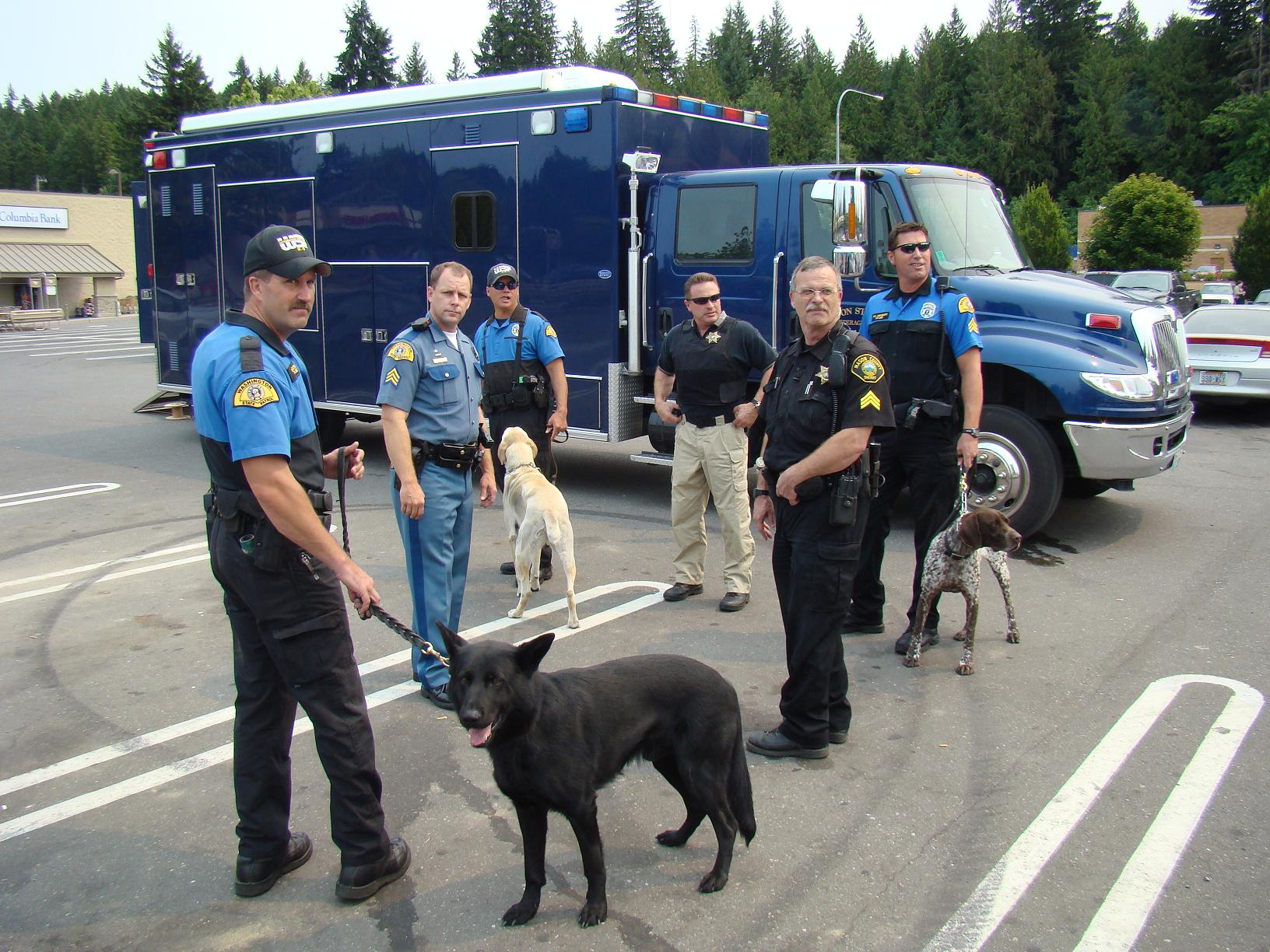 The Mason County Sheriff's Office responded along with members of the Washington State Patrol Multiagency Bomb Squad, several Washington State Patrol bomb sniffing K-9, and members of the Mason County Fire District #2 Firefighters and Fire Aid Paramedics.