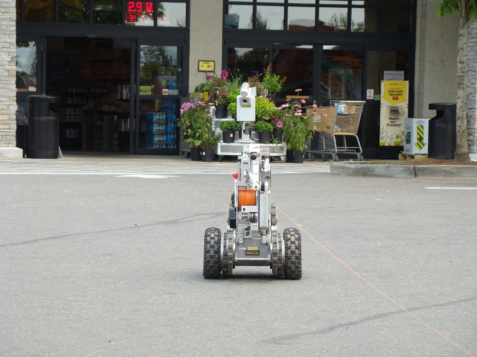 bomb detection robots enroute