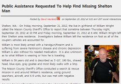 Wright Reported Missing