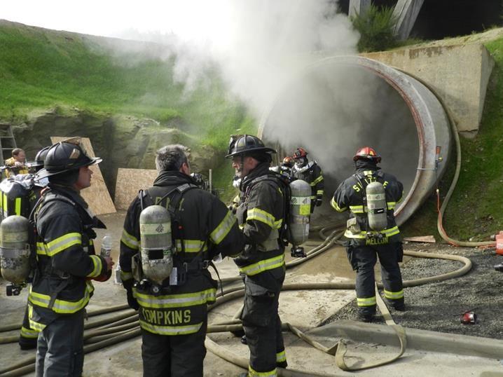 Satsop fire tunnel training