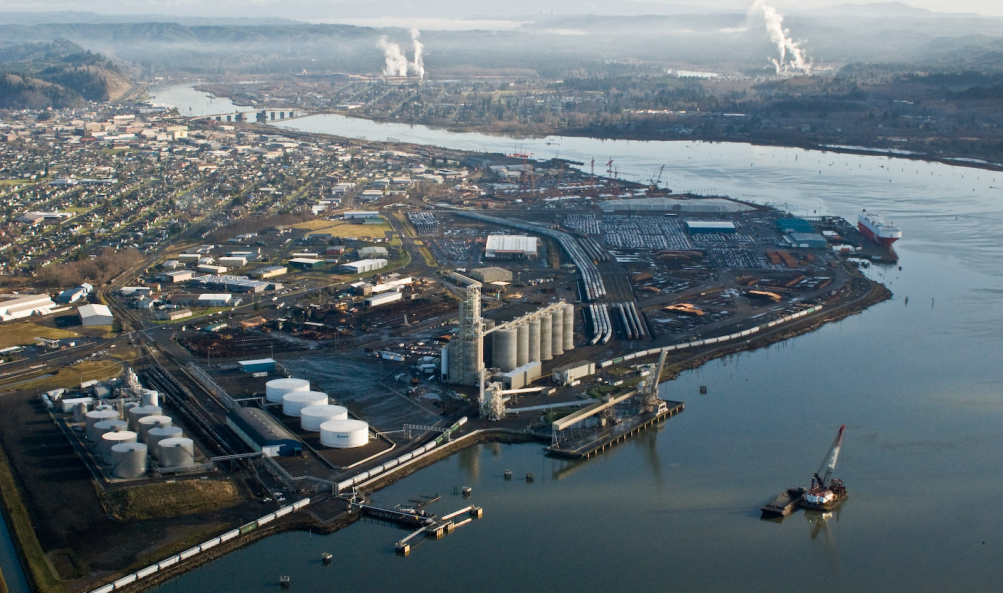Port of Grays Harbor ariel view