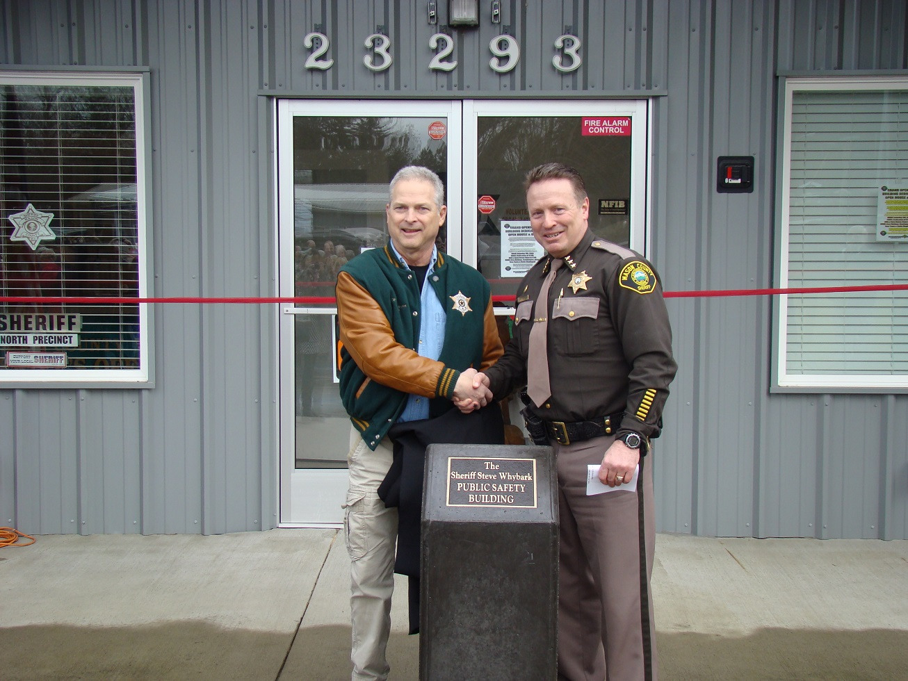 Mason County Sheriff's Office North Precinct dedicated to former sheriff