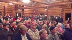 Over 200 attended the meeting at the Rotary Log Pavilion Thursday evening in Aberdeen.