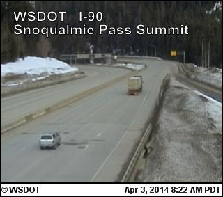 Single lane closures to cause delays on I-90 over Snoqualmie Pass