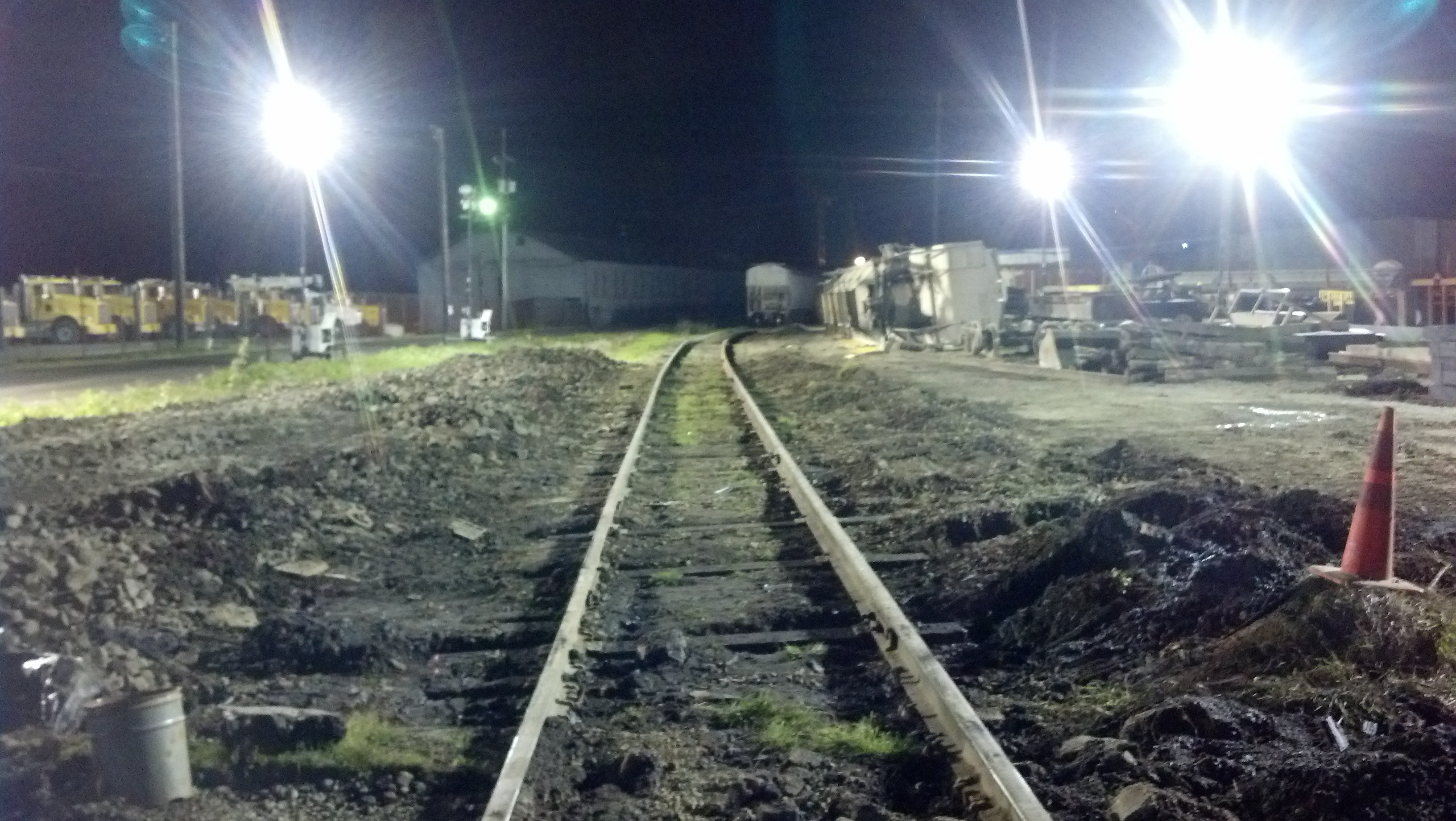 Tracks repaired at the scene of Aberdeen train derailment