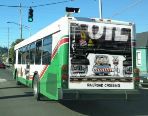 Grays Harbor Transit denies bus ads against crude-by-rail