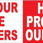 Hoquiam Firefighters signs of support
