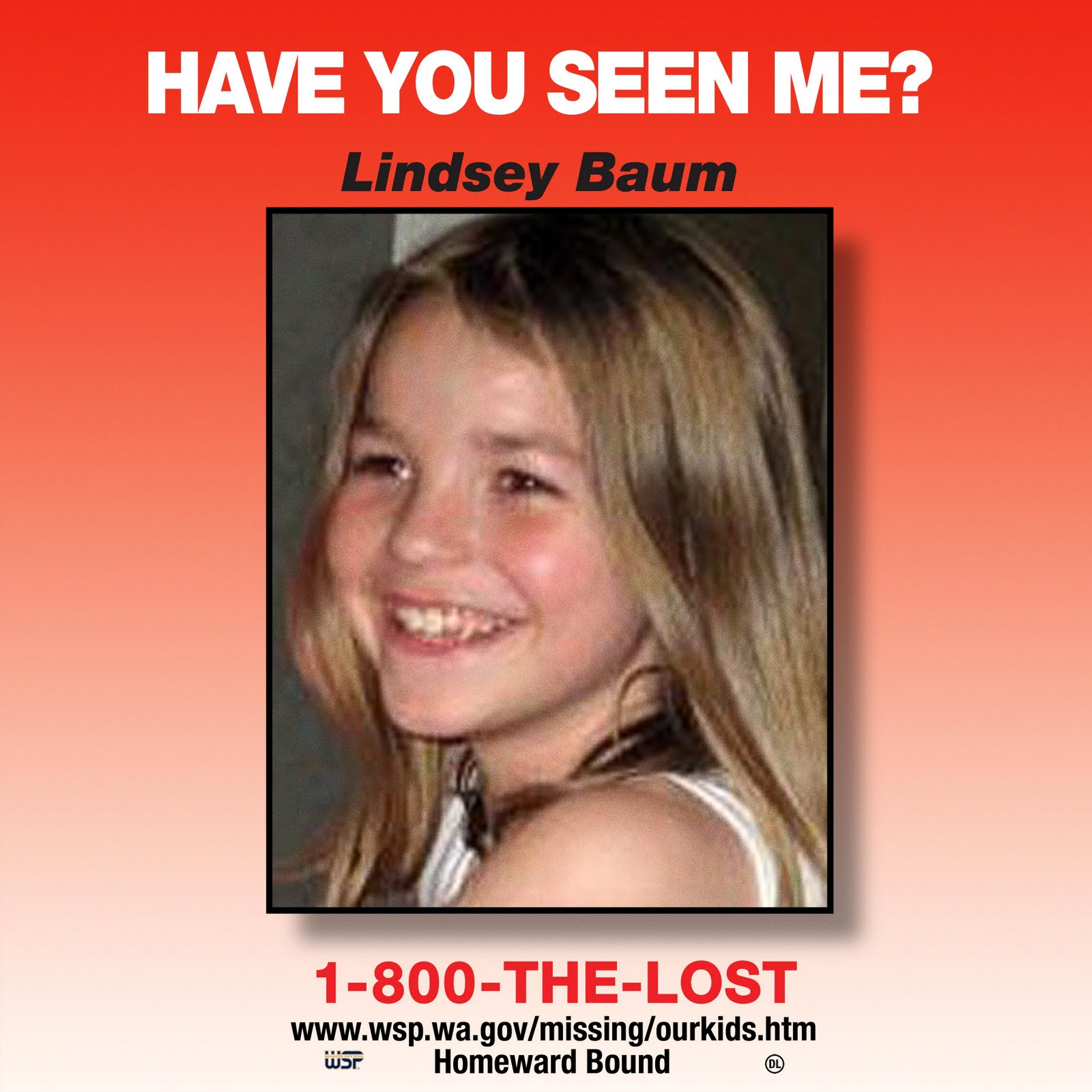 Lindsey Baum semi-trailer heads to Tumwater Wal-Mart for National Missing Children's Day