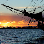 Lady Washington at sunset