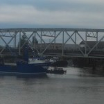 Boat strikes Riverside Bridge in Hoquiam