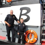 Dylan and his family were treated to a private ride on a Brisco tractor tug-boat