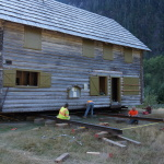Enchanted Valley Chalet Moved Away from Eroding East Fork Quinault River Bank