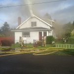 Hoquiam house fire 600 block of Queen Ave