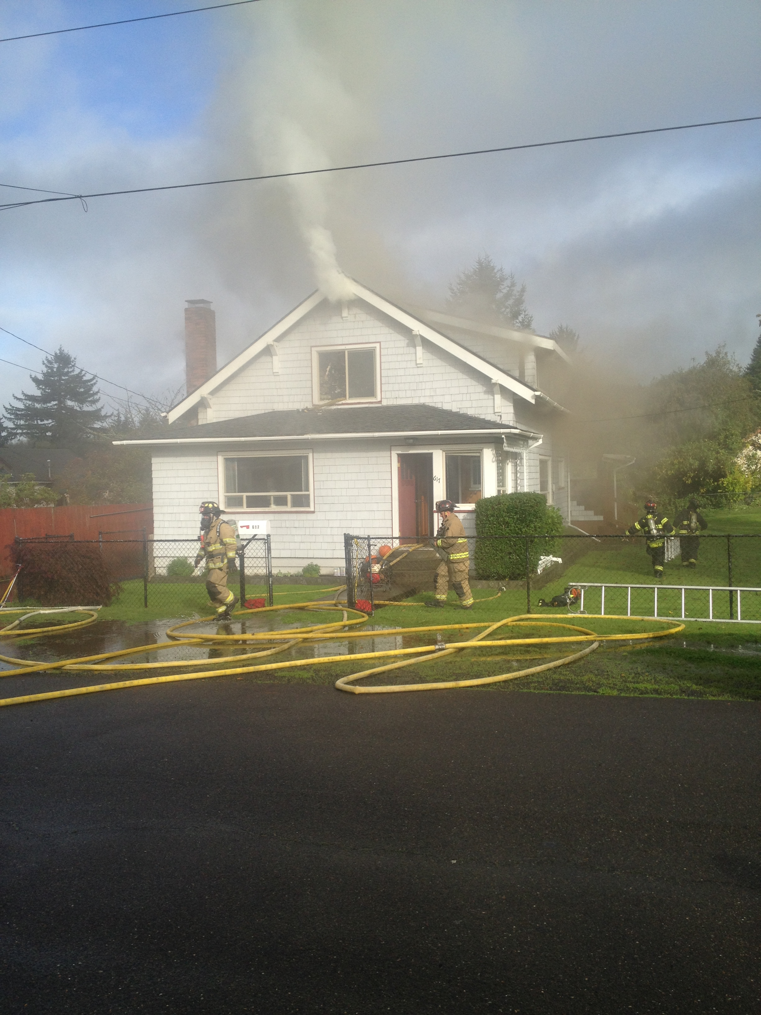 Hoquiam house fire started near wood insert stove