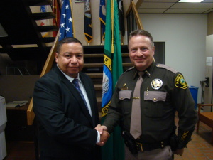 Mason County Sheriff swears in Jail Officer and Deputy Sheriff