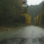 Flood waters cover the Elwha Valley's Olympic Hot Springs Road in November 2006.