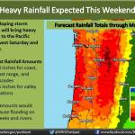 Heavy rainfall is expected this weekend across the Pacific Northwest.
