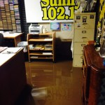 Jodesha Broadcasting Studios  under 2 inches of water