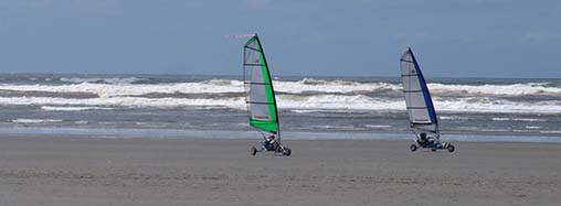 The use of wind-powered vehicles has been approved on Washington beaches