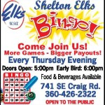 Shelton Elks Bingo night