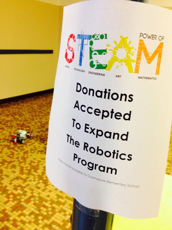 Cosmopolis students showcase their robotics program at S.T.E.A.M. event