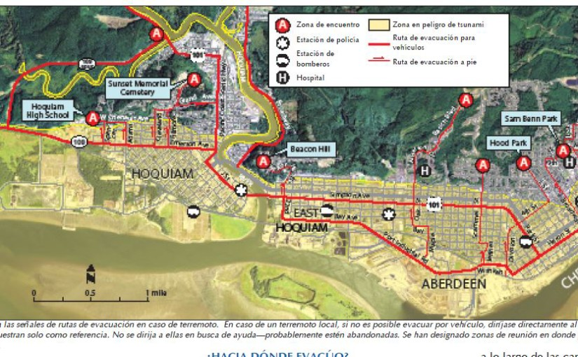 New tsunami evacuation maps in Spanish will help coastal communities