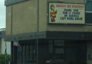 Aberdeen Fire Department honors retiring Captain Mark Dulin