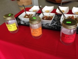 Salsa samples at the Elma Farm Stand