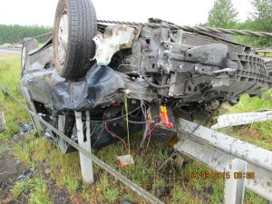 Rollover accident on U.S. Highway 12 sends 1 to hospital