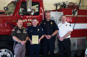 Grays Harbor Fire District 2 Chief honored for recovery efforts during January storms