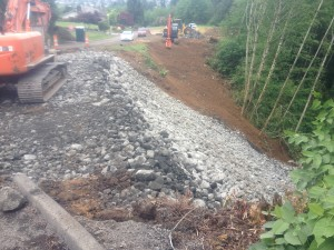 Harbor Paper concrete used for landslide repair in Aberdeen