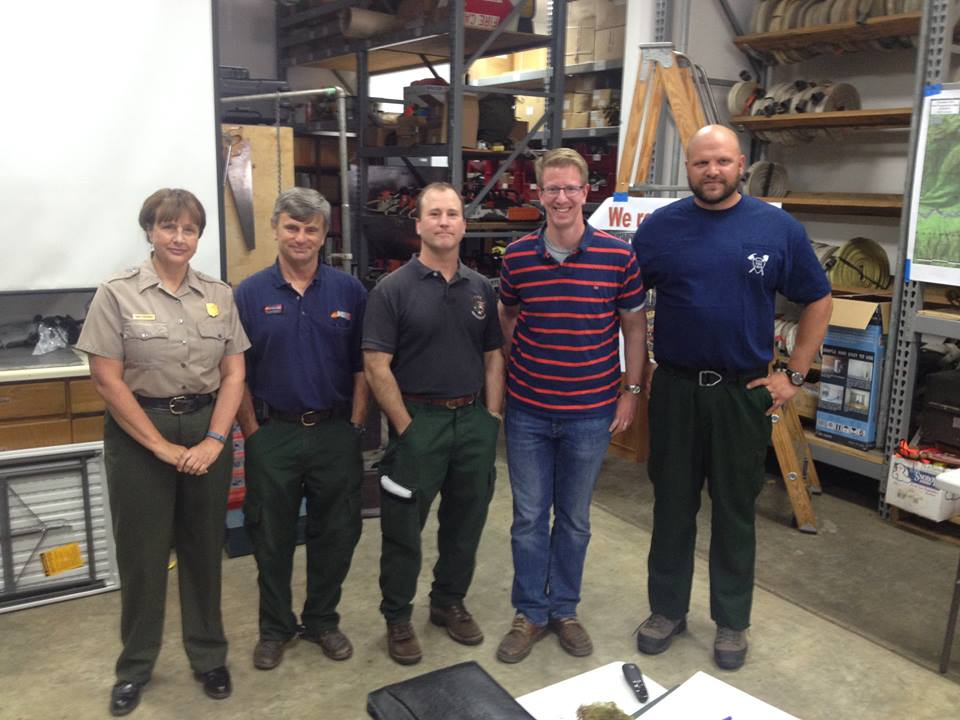 Paradise Fire crews brief U.S. Representative Derek Kilmer