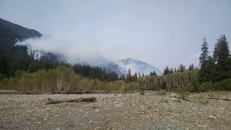 Paradise Fire slowly grows to 1,200 acres of Olympic National Park