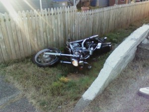 Rider thrown from motorcycle into yard after Aberdeen wreck