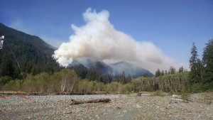 Paradise Fire grows slowly to 1600 acres of Olympic National Park