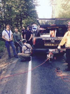 Olympia driver drifts off Mason County roadway