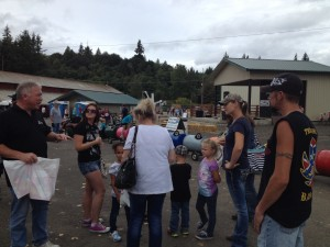 Puget Sound & Pacific Railroad employees volunteer for Operation Lifesaver at County Fair