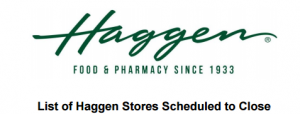 Haggen proposed closures