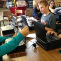 Aberdeen students unbox 700 Chromebooks