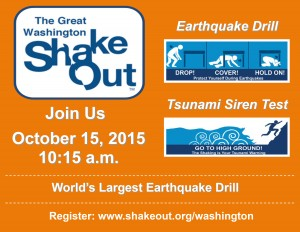 2015 Great Washington ShakeOut earthquake drill