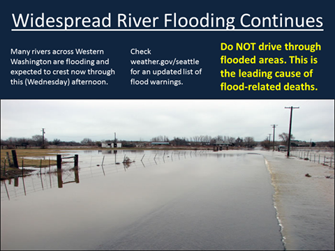 Widespread river flooding continues