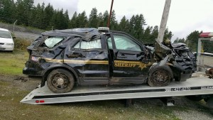 MCSO wrecked truck