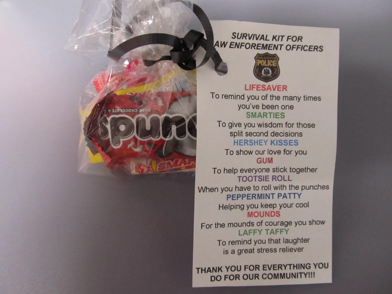 Aberdeen Police Department Sends Thanks for Survival Kit, and Local