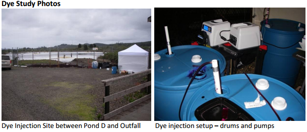 Dye Injection Site and Setup