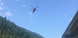 U.S. Coast Guard helicopter aids Olympic National Park Rangers in search for missing person