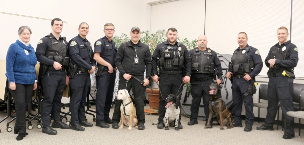 three canine units that assisted the district.
